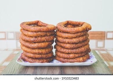 Selroti Famous Nepali Style Sweet Bread Made With Rice Flour,Sugar and Ghee. Popular Nepali Snacks Sel Roti.Nepali Food Nepali Cusine