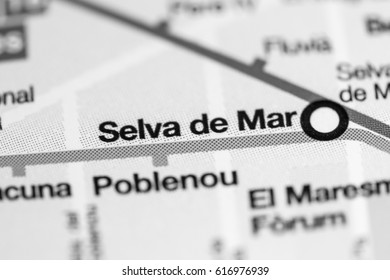 Selva de Mar Station. Barcelona Metro map.