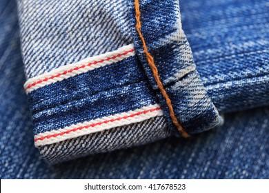 Selvedge blue denim jeans