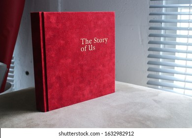 Semarang 16 January 2019 - A photo album maker is publishing red suede covered album with white thick paper inside to be their best product during this summer