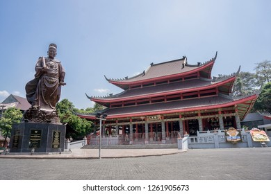 Semarang, Central Java, 08-27/2018. Sam Poo Kong Temple in Semarang, is one of the famous tourist attractions besides being a place of worship for followers of Confucianism and Taoism.