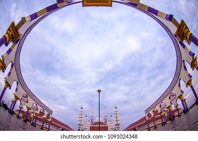 Semarang, Central Java, Indonesia (01/07/2017) : The Great Mosque of Central Java, the biggest mosque in Central Java Province in the morning.