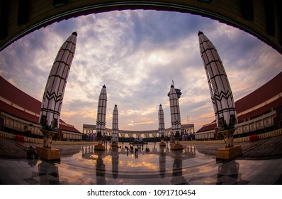 Semarang, Central Java, Indonesia (01/07/2017) The Great Mosque of Central Java, the biggest mosque in Central Java Province taken in the morning.