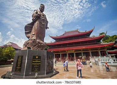 Semarang, Central Java, Indonesia (01/07/2017), Sam Poo Kong Temple, an iconic and heritage landmark, become a popular tourist destination in the city.