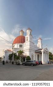 Semarang, Central Java / Indonesia - June 19 2018: Blenduk Chruch in Old City Area Semarang