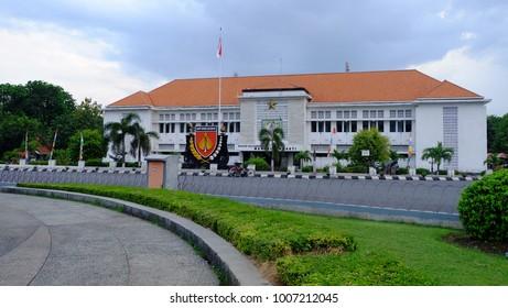 Semarang, Central Java, Indonesia - September 11, 2016 - Museum Mandala Bhakti in the middle of Semarang City.