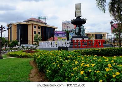 Semarang, Central Java, Indonesia - September 11, 2016 - 'Semarang Hebat' (The Great Semarang) as the slogan of Semarang city.