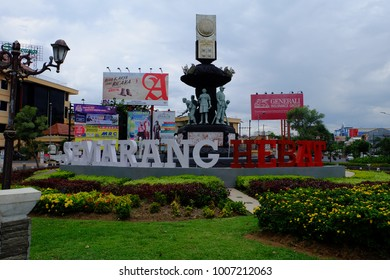 Semarang, Central Java, Indonesia - September 11, 2016 - 'Semarang Hebat' (The Great Semarang) as the slogan of Semarang city.