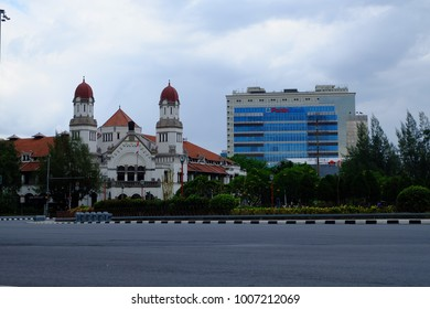 Semarang, Central Java, Indonesia - September 11, 2016 - Lawang Sewu Museum as the main icon of Semarang city.