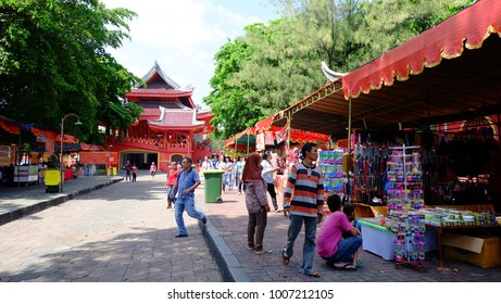 Semarang, Central Java, Indonesia - September 11, 2016 - Sam Po Kong Temple is a major tourist destination in the city of Semarang.