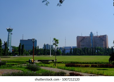 Semarang, Central Java, Indonesia - September 11, 2016 - Simpang Lima Park is a major tourist destination in the city of Semarang.