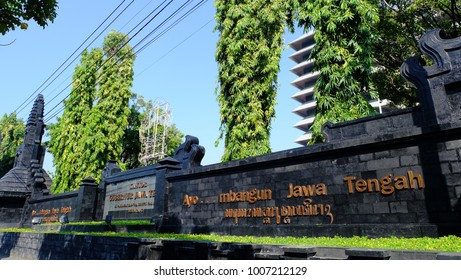 Semarang, Central Java, Indonesia - September 11, 2016 - Semarang city atmosphere is quiet during the day.