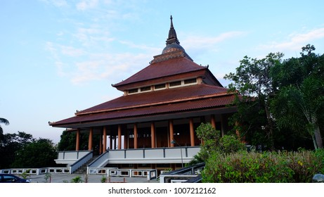 Semarang, Central Java, Indonesia - September 11, 2016 - Pagoda Avalokitesvara Buddhagaya Watugong is a major tourist destination in the city of Semarang.