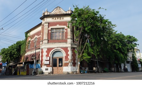 Semarang, Central Java, Indonesia - September 11, 2016 - the quiet atmosphere in the old town of Semarang.