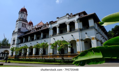 Semarang, Central Java, Indonesia - September 11, 2016 - the side view of Lawang Sewu Building.