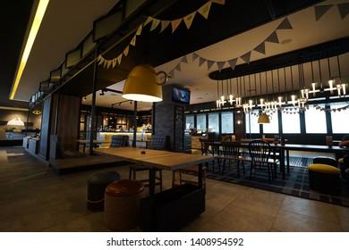 Semarang, Indonesia - April 24,2019: Interior of Room Inc Hotel, a good hotel in Semarang city.