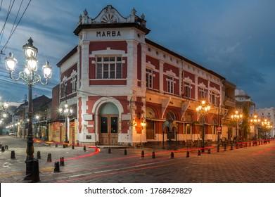 Semarang/ Indonesia - january 5th 2020 : Marba Building in Old City Area called Kota Lama, one of tourist destination in Semarang