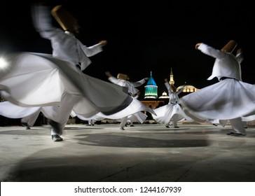 Semazen or Whirling Dervishes sufi Mevlana, Konya, Turkey - 12 07 2018