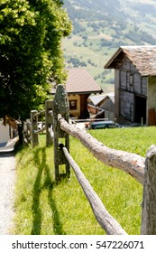 Sembrancher Switzerland. July 2015. A house built in secluded countryside.