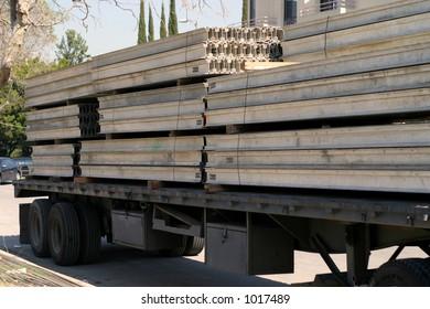 Semi truck hauling a load