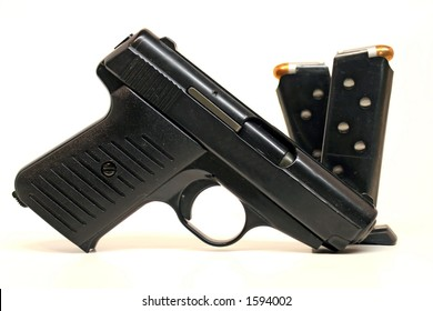 Semi-Automatic Handgun and Magazines