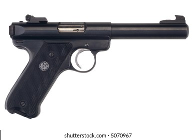 Semi-Automatic Pistol - isolated on white