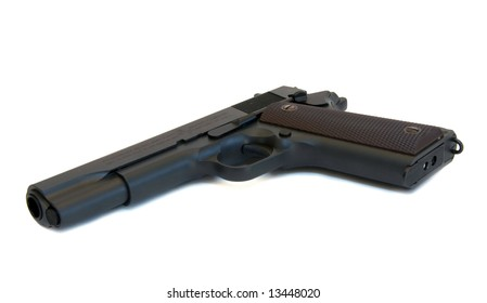 """Semi-automatic pistol.  See more weapon and war imagesby keyword """"war-auter"""""""