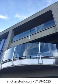 semicircle glass balcony