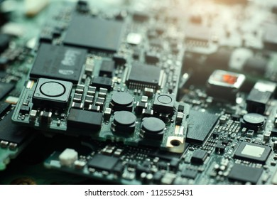 Semiconductor in Printed Circuit Board, technology background, Electronic Waste.