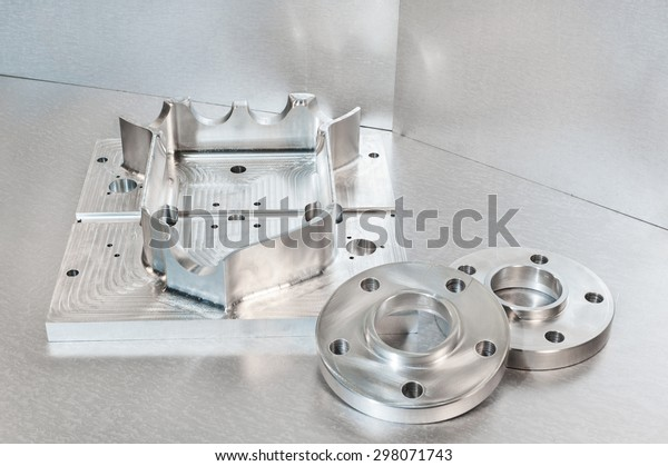 Semi-finished steel blank and flanges. Mechanical engineering. Milling and lathe industry. CNC technology.