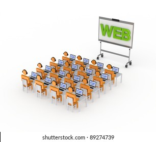 Seminar concept.Isolated on white background.3d rendered.