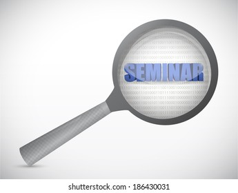 seminar under review illustration design over a white background