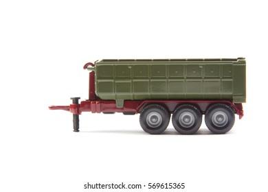semi-trailer isolated on white background