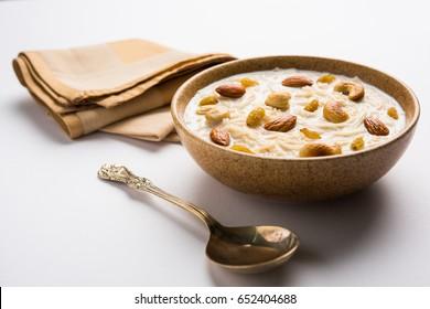 Semiya payasam(Mithai) Kerala, Sweet seviyan kheer or khir or Payasam, payasa, ksheeram, fereni