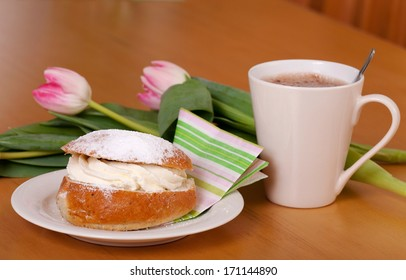 A semla is a traditional sweet roll made in various forms in the Nordic countries associated with Lent and especially Shrove Monday and Shrove Tuesday