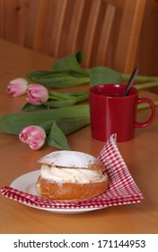 A semla is a traditional sweet roll made in various forms in the Nordic countries associated with Lent and especially Shrove Monday and Shrove Tuesday.