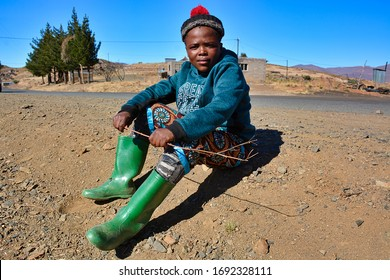 Semonkong, Kingdom of Lesotho, Africa – 26th of July 2019: Young girl from Basotho people