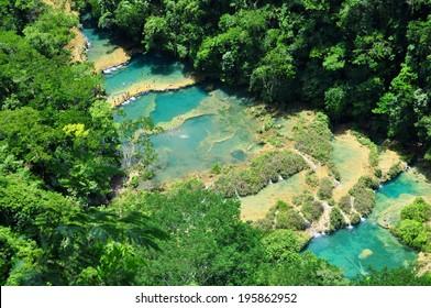 Semuc Champey, Lanquin, Guatemala, Central America