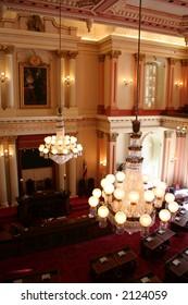 senate chamber in california state capitol