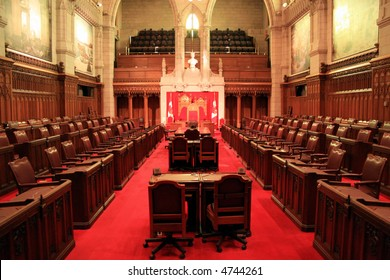 The Senate Chamber of Canada's Parliament
