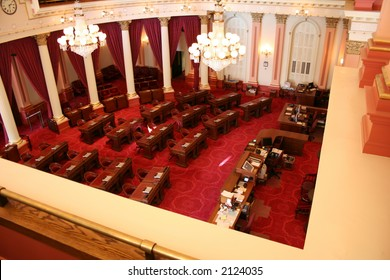 senate floor of california state capitol