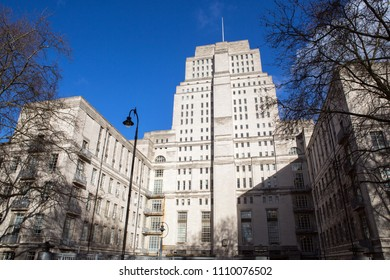 The Senate House (administrative centre of the University of London) in Bloomsbury area in London, England