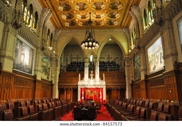 The Senate of Parliament Building, Ottawa, Canada