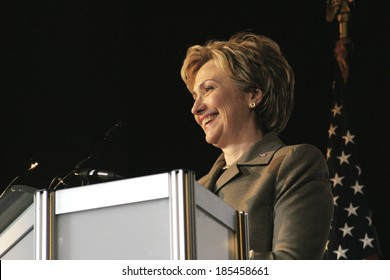 Senator Hillary Clinton giving keynote address at the Human Rights Campaign Annual Dinner, NY 2/7/2004