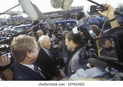 Senator John McCain during Republican primaries in Concord, NH, 2000