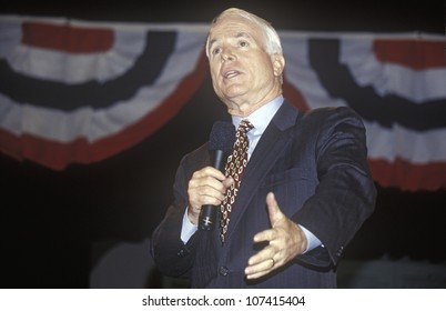 Senator John McCain speaking at Presidential Youth Forum at Anselm College, NH, January 2000