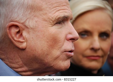 Senator John McCain and wife Cindy McCain
