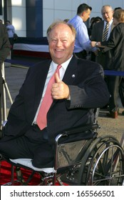 Senator Max Cleland at The Great Raid New York Premiere, The USS Intrepid Sea, Air & Space Museum, Pier 86, New York, NY, August 10, 2005