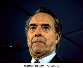 Senator Robert Dole Republican presidential candidate at a campaign rally at the Veterans Of Foreign Wars Post in Towson Maryland, March 3, 1996.