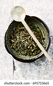 Sencha green Tea Leaves
